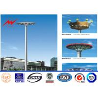 Wholesale 40M 12 Sides Galvanized High Mast Pole for Plaza Lighting with Winch from china suppliers