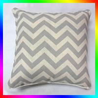 Wholesale gray chevron zippered Linen Throw Pillows eco-friendly For living room from china suppliers