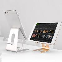 Wholesale 4-8 Inch Metal Cell Phone Stand For Desk , Universal Cellphone Mount Lightweight from china suppliers