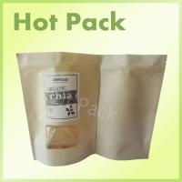 Wholesale Organic Chia Seed Kraft Paper Stand Up Pouches High Pressure Resistance from china suppliers