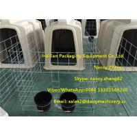 Buy cheap Small Dairy Farm Plastic Calf Hutches For Calves With Hot Dip Galvanized Steel Wire Fence from wholesalers