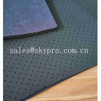 Polyester Knitted Fabric Rubber Sheet Perforated Neoprene SBR Sheet With Looped Fabric