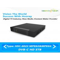 Wholesale Mini Cardless Steel DVB C Set Top Box 75 Ω Teletext Output With OSD from china suppliers