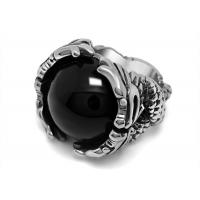 Wholesale Vintage 316l Stainless Steel Rings , Red / Black Agate Stone Ring With Corrosion Resistance from china suppliers