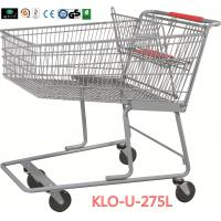 Wholesale 275L American Grocery Store Shopping Trolley With Base Grid / Metal Supermarket Carts from china suppliers