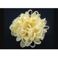Wholesale Bright Yellow  Up To 70% Discount Chrysanthemum Pattern Fabric Flower Brooch Pin from china suppliers