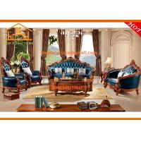 Wholesale American style furniture italy classic wooden wedding genuine leather sofa set designs from china suppliers