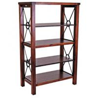 Wholesale Heavy Duty Vintage Metal Book Case With Wood Frame Eco - Friendly from china suppliers