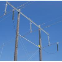 Wholesale Composite Housed Transmission Line Surge Arrester High Voltage , Silicon Rubber Material from china suppliers
