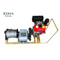 Wholesale 8 Ton Single Drum Gasoline Engine Powered Winch Cable Winch Puller from china suppliers