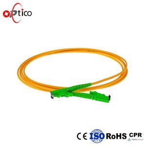 2.0mm Fiber Optic Patch Cord E2000 To E2000 9/125 Single Mode PVC LSZH Jacket
