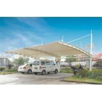 Wholesale Sun Shade Tension Membrane Structures For Car Parking With PVDF Roof Cover from china suppliers
