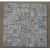 Wholesale Natural Stone Mosaic Chinese Travertine Mosaic Natural Surface Finish for Wall Decoration from china suppliers