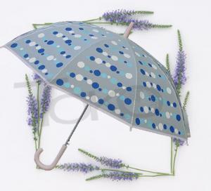 Large Kids See Through UmbrellaPlastic Transparent Fabric White Metal Frame