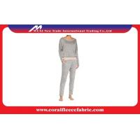Wholesale OEM Plus Size Cotton Ladies Adult Pajamas , Terry Slouchy Tee & Slim Pants Pajama Sets from china suppliers
