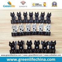 Wholesale New Selling Plastic Black/White Sheet Cat Shape Binder Paperclips from china suppliers