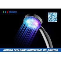 Wholesale Color Changing LED Rain Shower Head Handheld For Hotel , Home , Bathtub from china suppliers