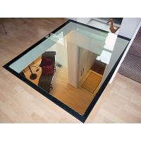 Quality Glass Floor Toughened Laminated Glass With Black Border ISO 12543 Standards for sale