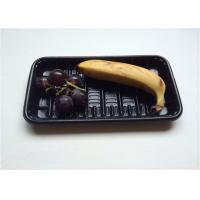 Wholesale Black Small PP Food Tray , Take Away Plastic Containers With Lids For Banner from china suppliers