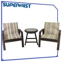 Wholesale 3PC Outdoor Garden Furniture Patio Bistro Set Steel Frame Resin Rattan Sling from china suppliers