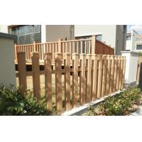 Wholesale Durable Solid WPC Garden Fence , Eco-friendly Wood Plastic Composite Railing from china suppliers