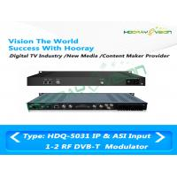 Wholesale DVB - T 1U COFDM IP ASI Dual RF Modulator 50~960MHz Terrestrial Cable Web Browser from china suppliers