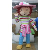 Wholesale handmade lovely big-head Strawberry Short mascot costume for adult from china suppliers