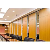 Wholesale Aluminum Frame Wooden Surface Sliding Partition Walls 6m Height from china suppliers