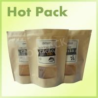 Wholesale Zipper Rice Paper Kraft Stand Up Pouches High Temperature Resistant Laminated from china suppliers