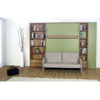 Wholesale Double Vertical Modern Wall Bed Bedroom Furniture with Bookshelf and Sofa from china suppliers