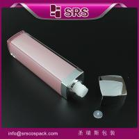 Wholesale SRS pink Luxury empty Bottle for toner serum Square Shape plastic Cosmetic packaging from china suppliers