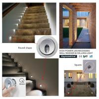 Wholesale High Power 3W Mini Recessed LED Wall Lights IP65 Waterproof for  Stair and Celling from china suppliers