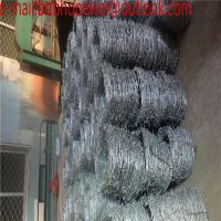 Wholesale galvanized barbed wire/PVC coated barbed wire per meter length/barbed wire roll price fence/200m 400m barbed wire length from china suppliers