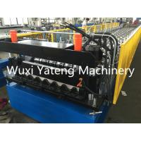 Wholesale Metal Floor Decking Roll Forming Machine With Hydraulic De - Coiler Lifetime Service from china suppliers