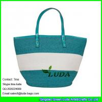 Wholesale LUDA 2016 summer striped tote bag fashion handmade storage basket with handles from china suppliers