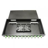 Wholesale Digital / Hybrid 12 Core Fiber Optic Distribution Frame ODF Rack 1U Type Black Color from china suppliers