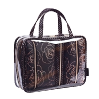 China Hot Sale New Product Custom Waterproof PVC Clear Cosmetic Trolley Bag on sale