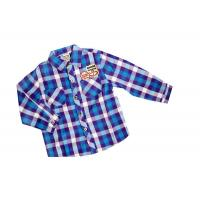 Wholesale Cool Two Pocket Blue Check Flannel plaid shirt style kids 100% Cotton from china suppliers