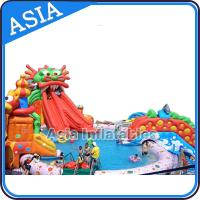 Wholesale Outdoor  Commercial Inflatable Ground Water Park Slide with Pool , Moving Water Park from china suppliers