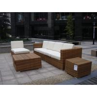 Wholesale Outdoor Indoor PE Rattan Sofa With Side Sofa , Middle Sofa , Ottoman , Coffee Table from china suppliers