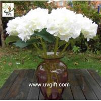 Wholesale UVG FHY23 Decoration flower artificial white hydrangea for indoor party decoration from china suppliers