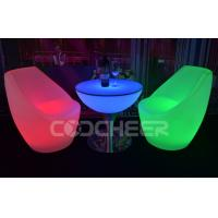 Wholesale Mutil color Garden And Patio glow outdoor furniture coffee table with led lights from china suppliers