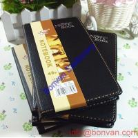 Wholesale a6 a5 thermo diagonal leather pu notebook,business writing notebook from china suppliers