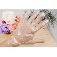 Quality Soft Healthy Clear Disposable Plastic Gloves For Food Handling 100pcs/Bag for sale