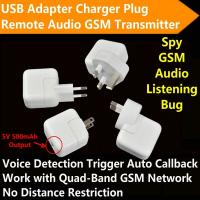 Wholesale Mini AC Adapter Charger US/EU Plug Hidden Spy GSM SIM Remote Audio Transmitter Listening Ear Bug W/ 5V USB Output from china suppliers