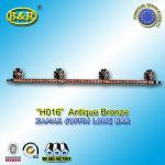 H016 zamak coffin handle metal long bar coffin hardware 1.55meter with 4 base