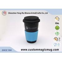 Wholesale Promotional Gift Porcelain Travel Coffee Mug With Silicone Lid , Starbuck Coffee Mug from china suppliers