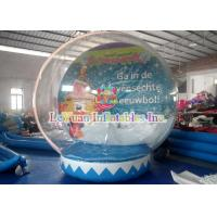 Wholesale Transparent Outdoor Inflatable Tent for Advertising Decoration / inflatable christmas snow globe from china suppliers