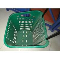 Wholesale Red Plastic Basket Carts With Wheels Supermarket / Vegetable Shopping Basket from china suppliers