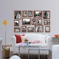Wholesale new design Wood Photo Wall Wooden photo frame photo wall for home decoration from china suppliers